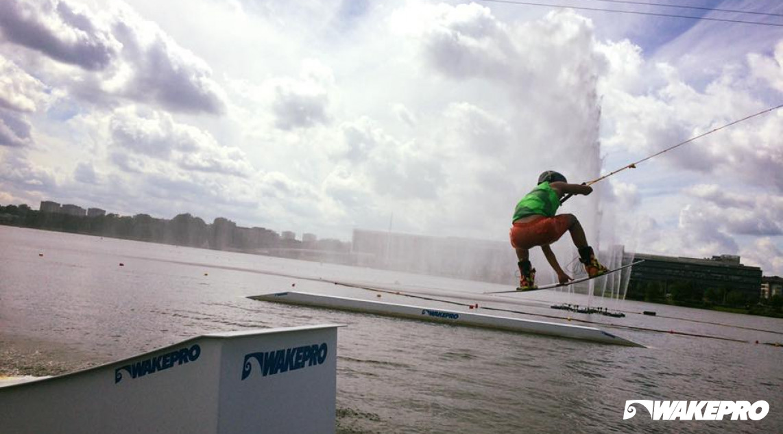 Wakepro obstacles in Wake Park Malta