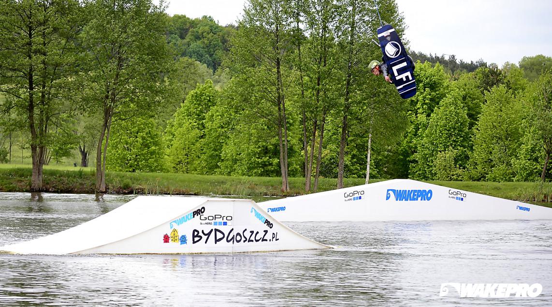Wakepro obstacles at Bydgoszcz Wakepark