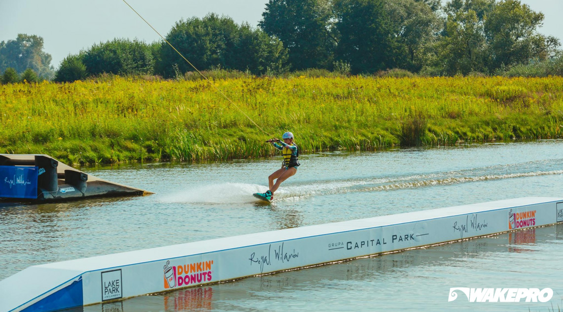 Wakepark obstacle at Lake Park Wilanów